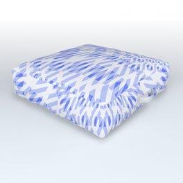 warped bandanna. pale blue Outdoor Floor Cushion