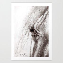 Perlino Eye Art Print