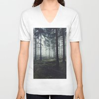 astronomy V-neck T-shirts featuring Through The Trees by Tordis Kayma