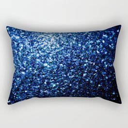 Beautiful Dark Blue glitter sparkles Rectangular Pillow