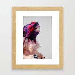 Footloose and Fancy Free, felted Framed Art Print