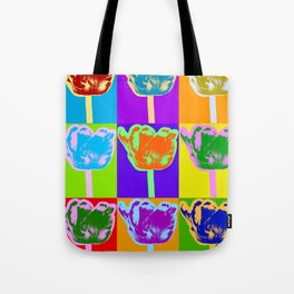 Poster with flower picture in pop art style Tote Bag