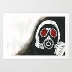 Gas Mask Art Print