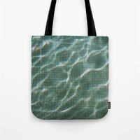 pool Tote Bags featuring Pool by Marta Bocos