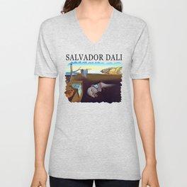 Salvador Dali The Persistence of Memory 1931 Artwork, Wall Art, Prints, Posters, Tshirts, Men, Women Unisex V-Neck