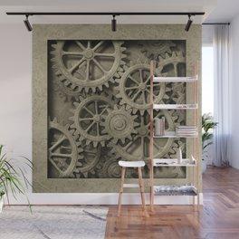 Steampunk Cogwheels Wall Mural