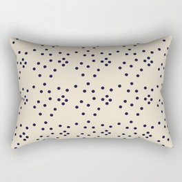 Geometrical black ivory abstract polka dots Rectangular Pillow