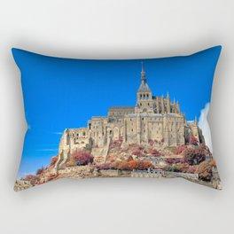 Autumn Shades of Mont Saint-Michel Rectangular Pillow