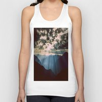 mountains Tank Tops featuring mountainS Dark Sunset by 2sweet4words Designs