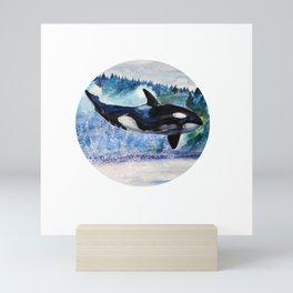 Whale of Freedom Mini Art Print