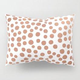 Copper Dots Pillow Sham