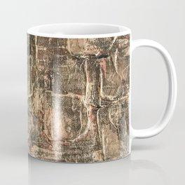 Textured Bronze Gold Metal Painting on Canvas Coffee Mug