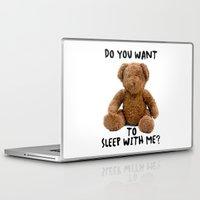 teddy bear Laptop & iPad Skins featuring teddy bear by ulas okuyucu