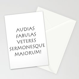 Audias fabulas veteres sermonesque maiorum Stationery Cards
