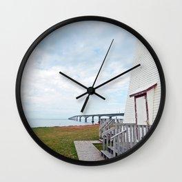 Bridge and Lighthouse Wall Clock