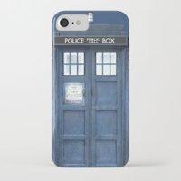 tardis iPhone & iPod Cases featuring Tardis by bimorecreative