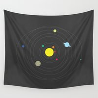 planets Wall Tapestries featuring The Planets  by whythankyouplease