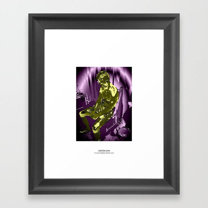 THE CHESS BOXING FIGHTER Framed Art Print
