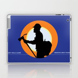 Creative Acre Foundation (CAF) Support poster Laptop & iPad Skin