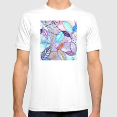 trajectories White Mens Fitted Tee MEDIUM