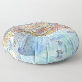 Vernazza, Cinque Terre, Italy Floor Pillow