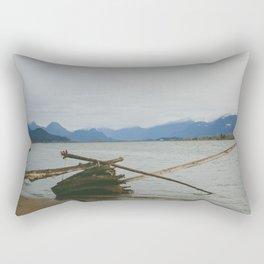 River and Mountains Rectangular Pillow