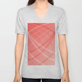 Red Background Unisex V-Neck