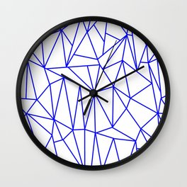 Geometric Cobweb (Blue & White Pattern) Wall Clock