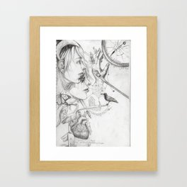 Time is Closing in Framed Art Print