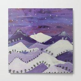 Mountains at night Metal Print
