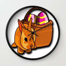 Bunny Easter Wall Clock