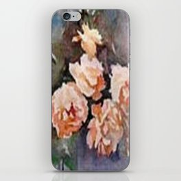 Ivory Roses Watercolor Tender Bouqet iPhone Skin