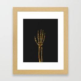 Golden Hand Framed Art Print
