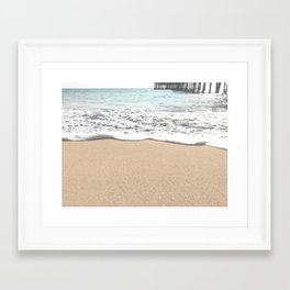 Wave Foam // California Ocean Pier Sandy Beaches Surf Country Pacific West Coast Photography Framed Art Print