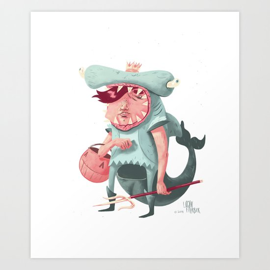 Shark Kid Art Print