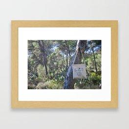 We Support Nature Tote bag Framed Art Print