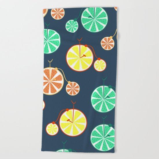 Fruity bikes Beach Towel