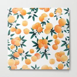 Orange Twist Flower Vibes #6 #tropical #fruit #decor #art #society6 Metal Print