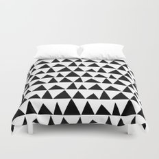 Playful triangles Duvet Cover