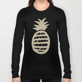 Golden pineapple pattern Long Sleeve T-shirt