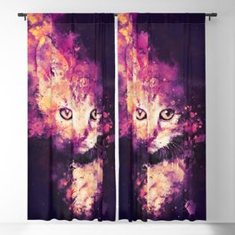 abstract young cat wslsh Blackout Curtain