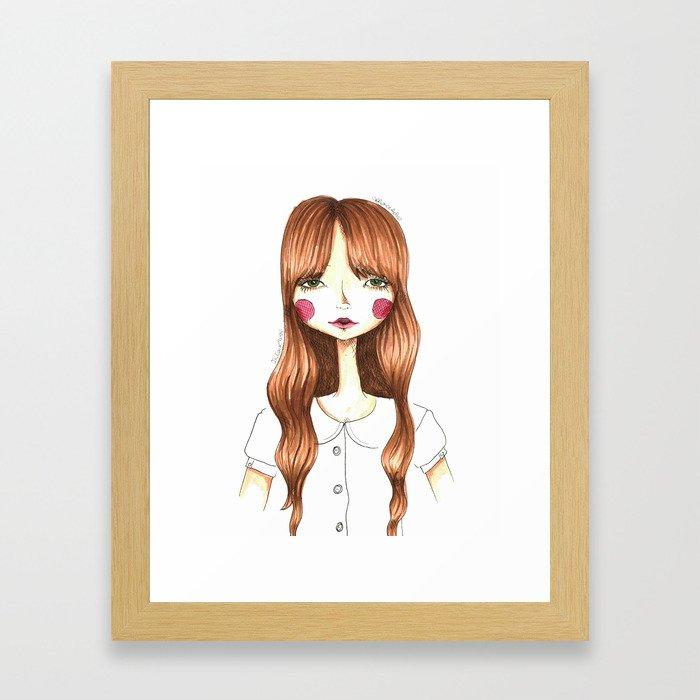 Rosy Girl Framed Art Print