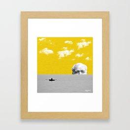 Ernest Hemingway   Old man and the Sea   Digital Collage Art Framed Art Print