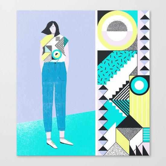 Pattern & Figure Canvas Print
