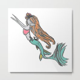 Mermaid Metal Print