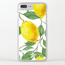 TROPICAL LEMON TREE Clear iPhone Case