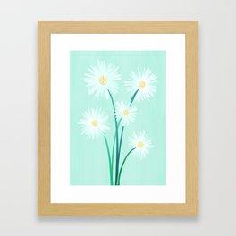 Mint Wildflower Bouquet Framed Art Print