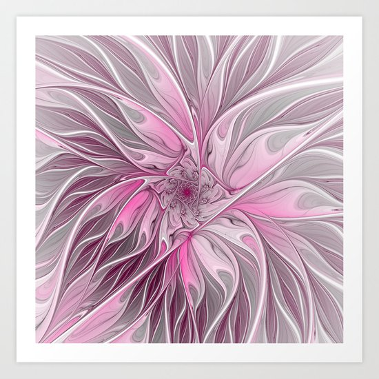 Abstract Pink Floral Dream Art Print