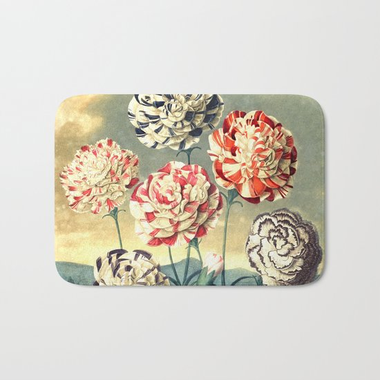 Carnations : New Illustration Of The Sexual System Bath Mat