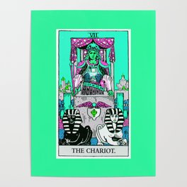 7. The Chariot- Neon Dreams Tarot Poster